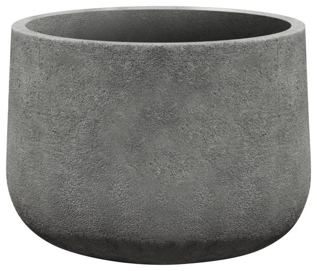 Campania International Cast Stone Tribeca Planter Medium Contemporary Indoor Pots And Planters By Tuscanbasins
