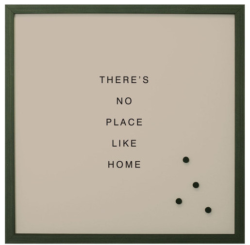 thereu0027s no place like home magnetic board vintage frame small