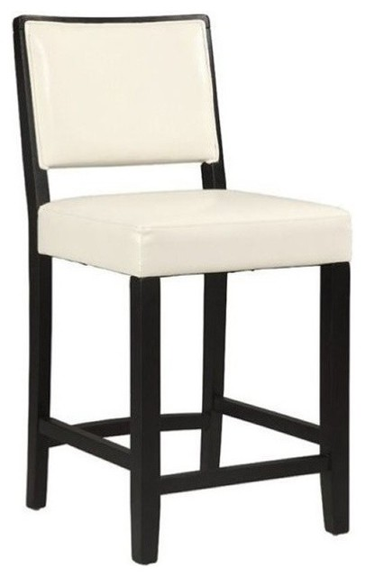 Hawthorne Collection 24 Quot Faux Leather Counter Stool White