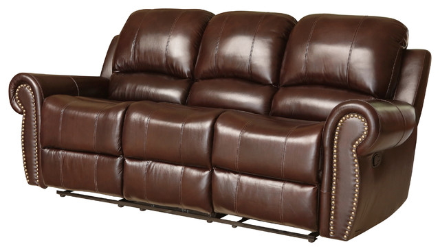 Phenomenal Abbyson Living Lexington Reclining Sofa Burgandy Machost Co Dining Chair Design Ideas Machostcouk