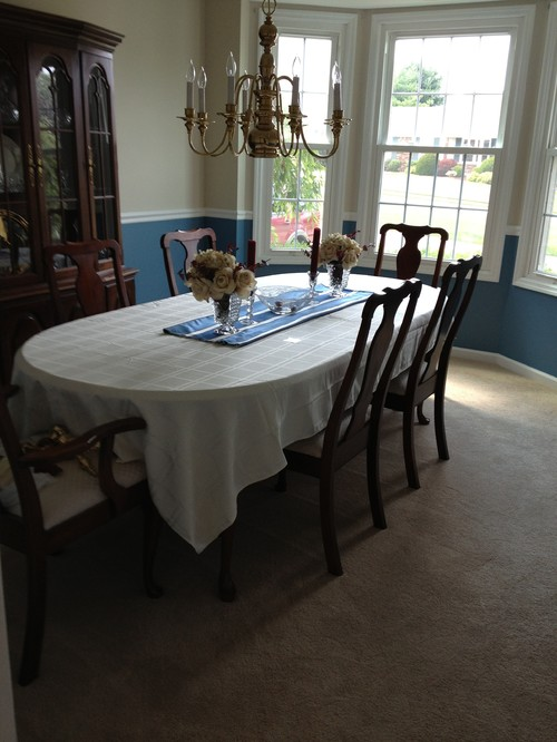 Square tablecloth on oval table : home design from www.houzz.com size 500 x 666 jpeg 76kB
