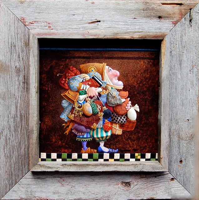 deep box frames rustic barn wood 12x8 opening