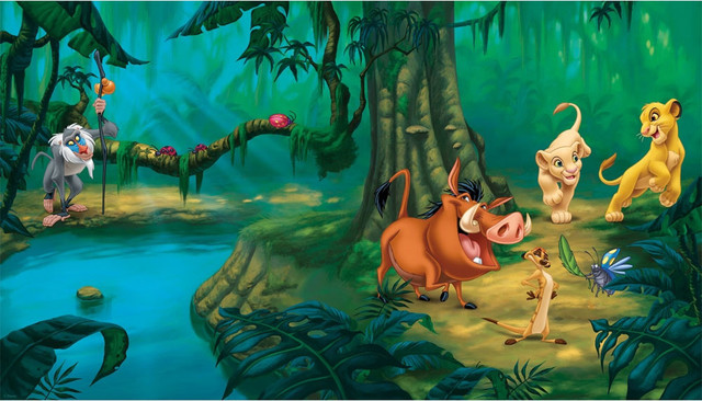 York Wallcoverings Lion King Jungle Simba Giant Wallpaper