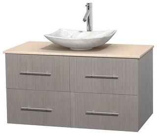 Eco Friendly Single Bathroom Vanity In Gray Oak Bathroom Vanities And Sink Consoles By