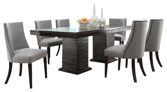 Homelegance Chicago 8-Piece Pedestal Dining Room Set, Deep Espresso