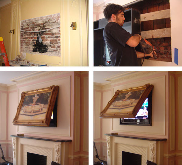 New York(55th st & 5th ave) Installation! - Traditional - Living Room - New York - by TVCoverUps