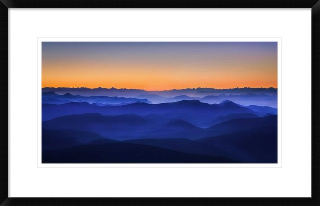 """Misty Mountains"" Artwork, 28""x17.4"""