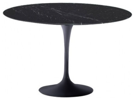 39 Round Black Marble Top Table