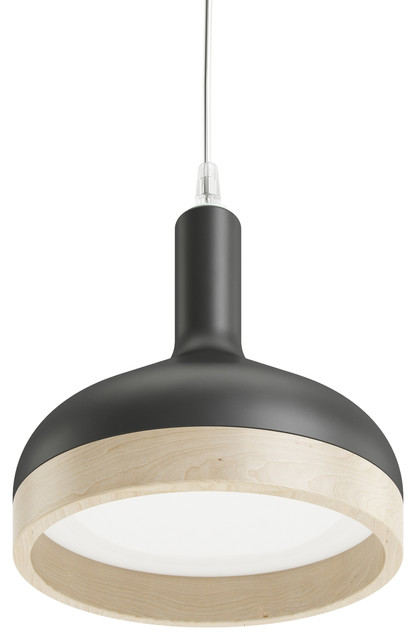 Henry Funnel Pendant Light, Matte Black.