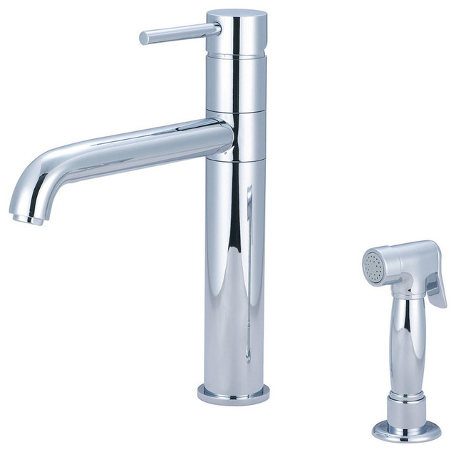 Pioneer Single Handle Kitchen Faucet Pvd Brushed Nickel View In Your Room Houzz