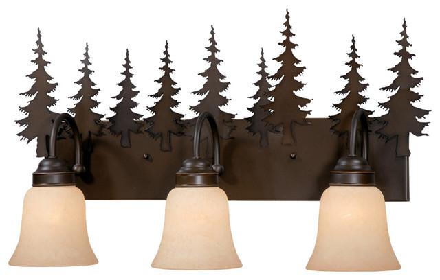 Yosemite 3-Light Vanity - Rustic - Bathroom Vanity ...