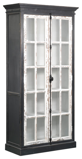 Asbury Distressed White 2-Door Vertical Hardware China