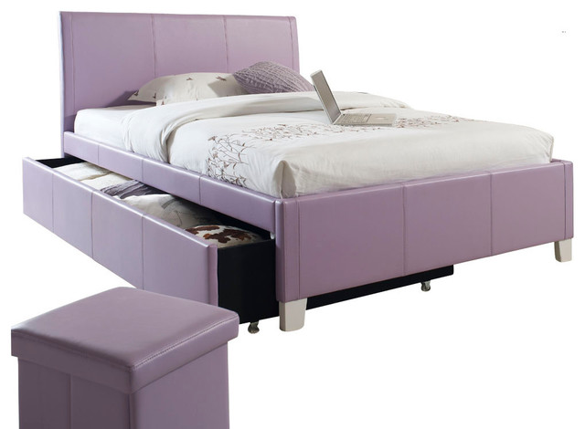 Genial Standard Furniture Fantasia Upholstered Trundle Bed In Lavender   Twin