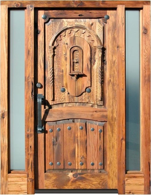 Carved Western front Doors