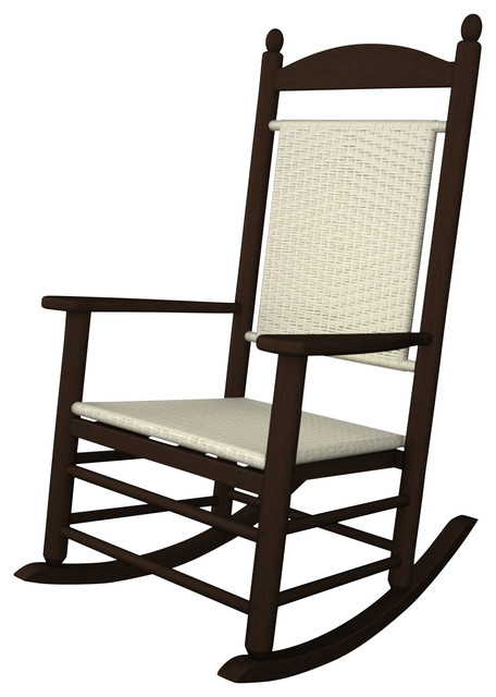 Jefferson Woven Rocking Chair, Cahaba   Tropical   Outdoor Rocking Chairs    By Ivy Terrace