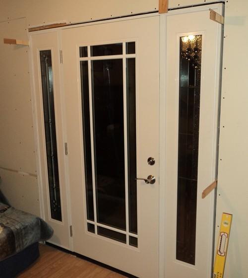 & Painting Exterior Fiberglass Door with Sidelites