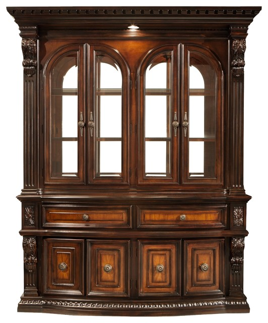 grand estates 2-pc. china cabinet w/ lighting