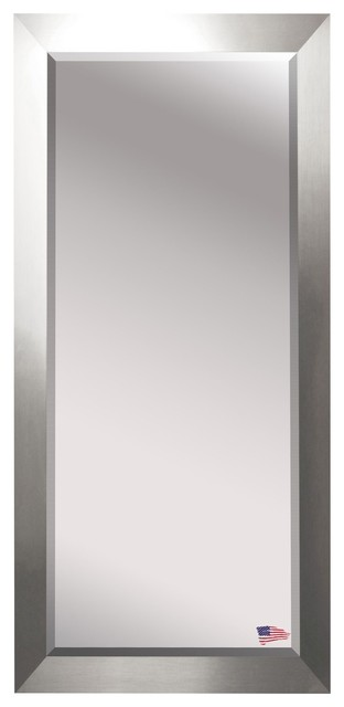 Us Made Silver Wide Beveled Oversized Full Body Mirror, Oversized.