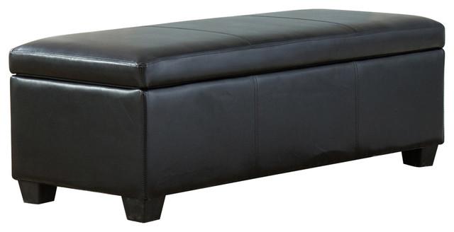 48 Elegant Leather Rectangular Storage Ottoman