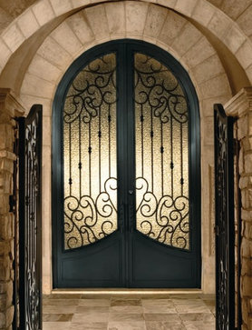 wrought iron glass door,wrought iron security doors,iron glass