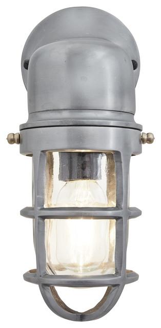 Bulkhead Outdoor & Bathroom Sconce Wall Light - 12 Inch, Gunmetal