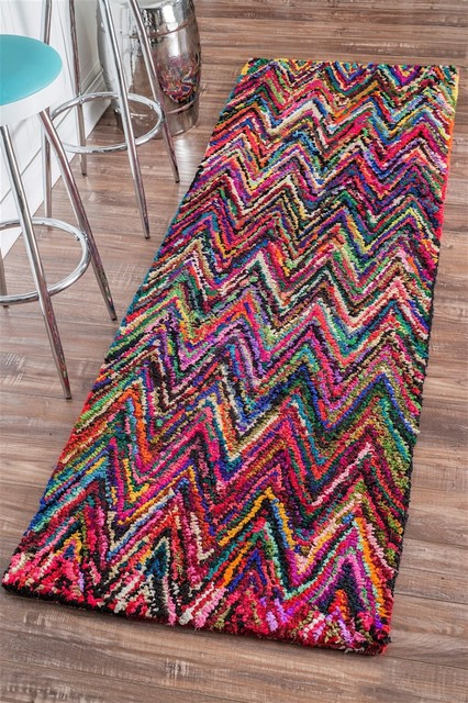 Braided Oconnor Area Rug Eclectic Hall And Stair