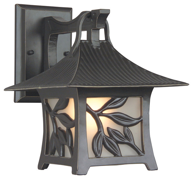 Exteriors by Craftmade Outdoor Mandalay Small Wall Mount, Antique Bronze