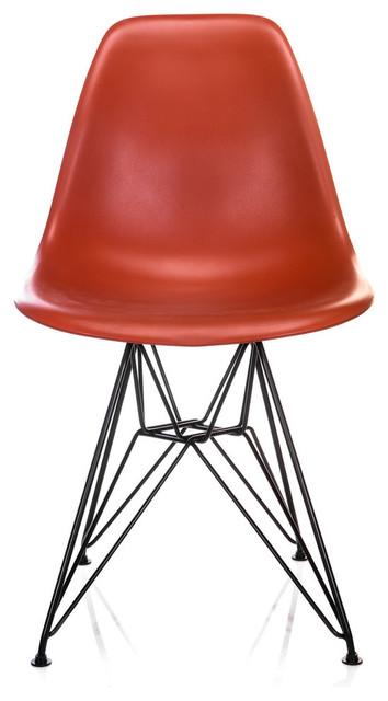 Miraculous Nature Series Blood Orange Dsr Mid Century Modern Dining Chair Black Steel Creativecarmelina Interior Chair Design Creativecarmelinacom