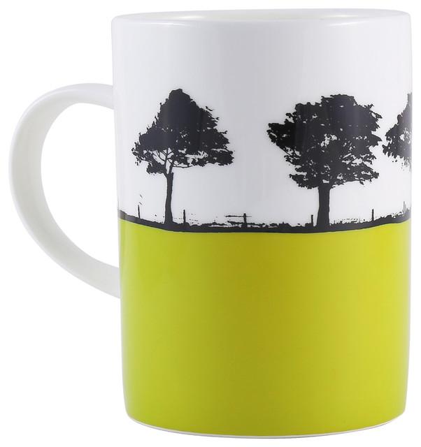 dd60a787e59 Harrogate Lime Bone China Mug - Contemporary - Mugs - by The Art Rooms Ltd.