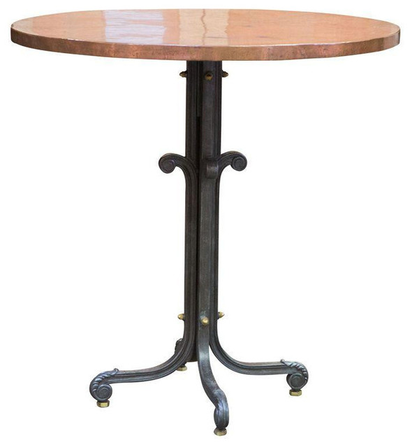Brass Top Highboy Table   $2,500 Est. Retail   $1,125 On Chairish.com  Industrial