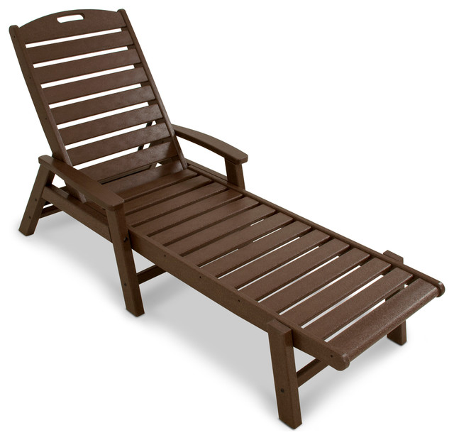 Yacht Club Chaise Lounge with Arms stackable Traditional Outdoor Lounge F