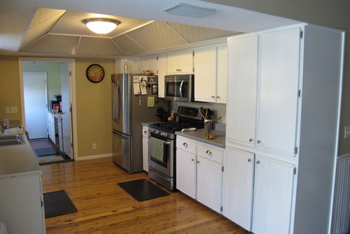 Galley kitchen with low ceilings for Low ceiling kitchen
