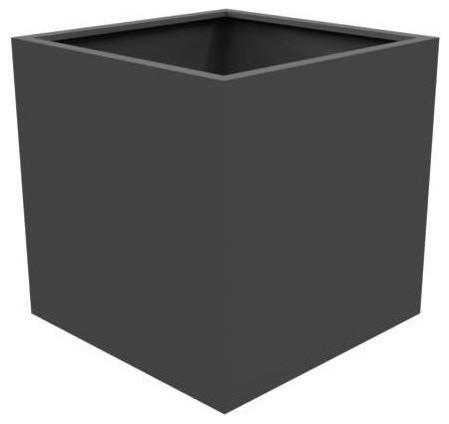 Adezz Aluminium Planter, Black Grey, Florida Cube, 80x80x80cm