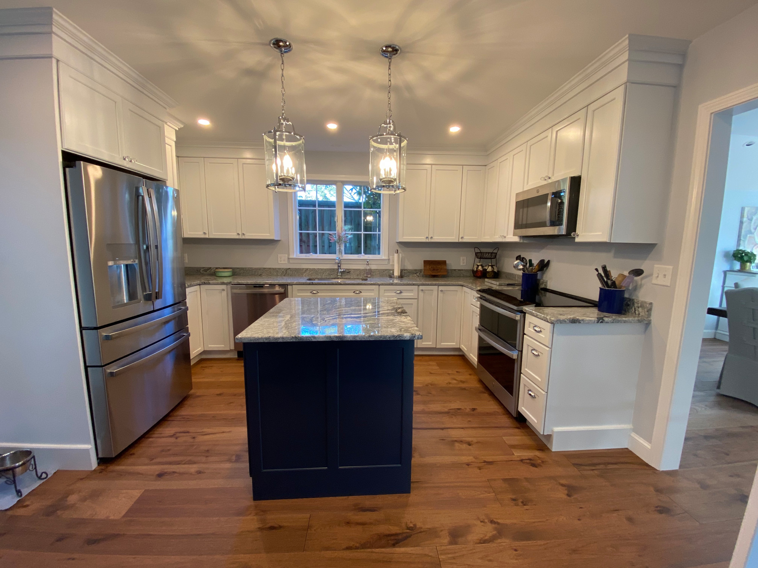 A lot of kitchen in a small space