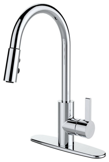 4-Hole Kitchen Faucet, Brushed Nickel