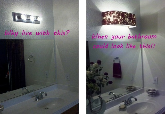 Ordinaire Custom Lampshades   Before/After   Bathroom Vanity   Lampshade