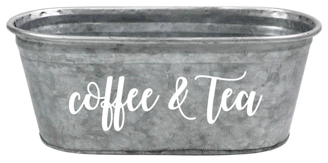 Industrial Food Container : A southern bucket quot coffee tea galvanized tub food