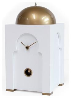 Sheikh 2355 White Table Cuckoo Clock Modern Cuckoo