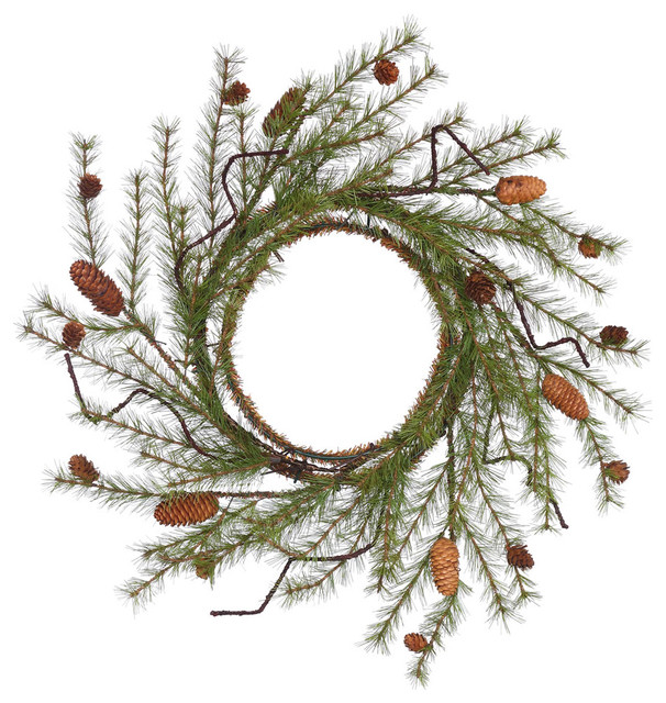 24 River Pine Wreath With Cones.