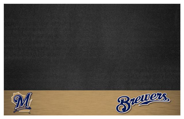 "Mlb Milwaukee Brewers Grill Mat 26""x42""."