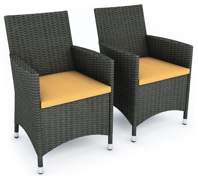sonax cascade two chair set in river rock black weave lounge