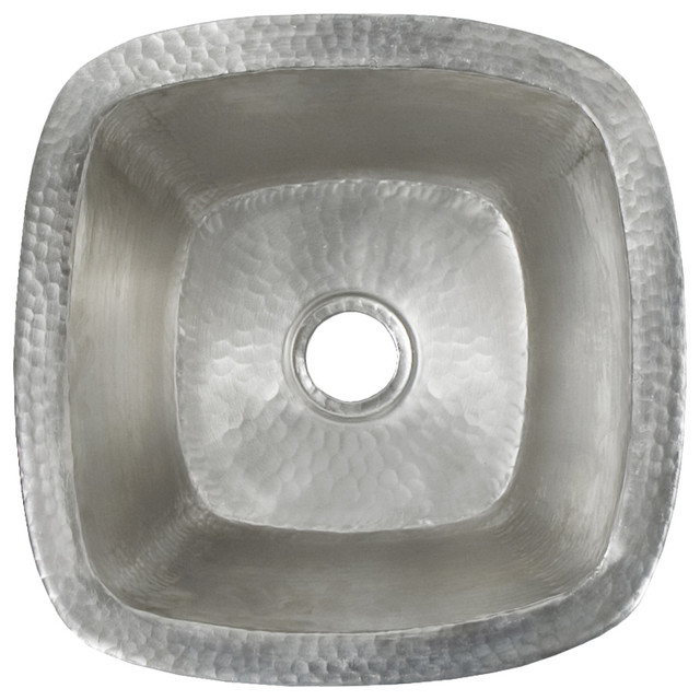 Small Square Prep or Bar Sink in Antique - Contemporary - Bar ...