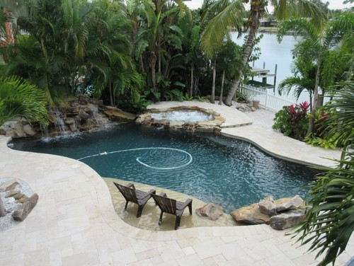 Obsessing Over Pool Finishes - Black pearl pebble tec pool bottom