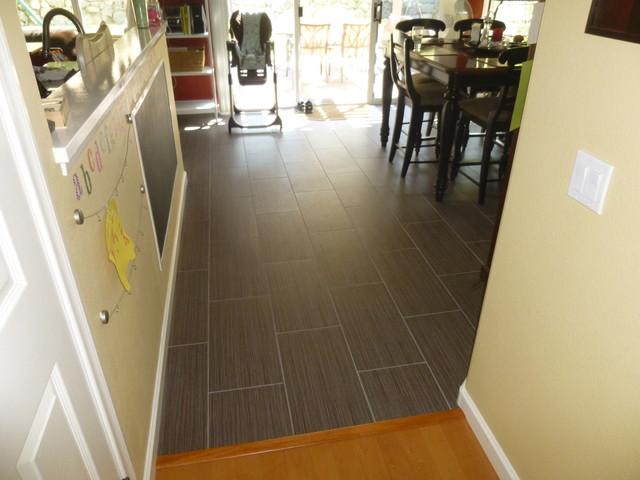 12 X 24 Porcelain Tile Flooring Running Bond Pattern Modern
