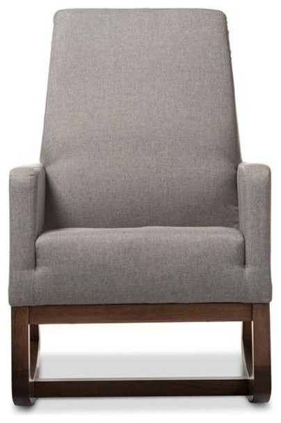 Dietre Upholstered Rocking Chair, Gray