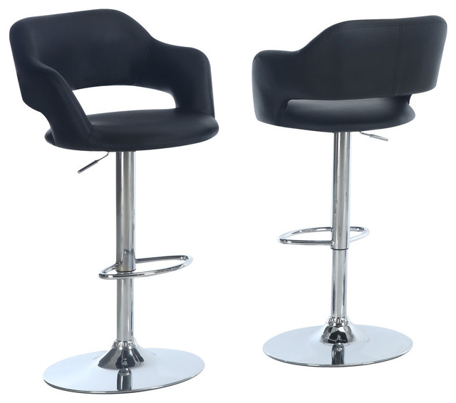 Luciano Hydraulic Lift Bar Stool Black