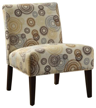 Gears And Circles Accent Side Chair Contemporary Armchairs And