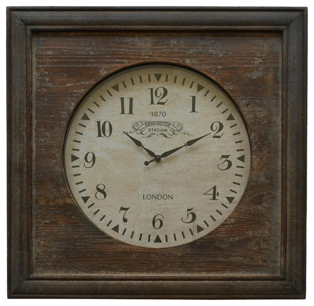 Henley Wood Wall Clock Farmhouse Wall Clocks by Cheungs
