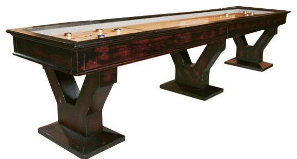 Gaston Shuffleboard Table With Accessories, 12u0027