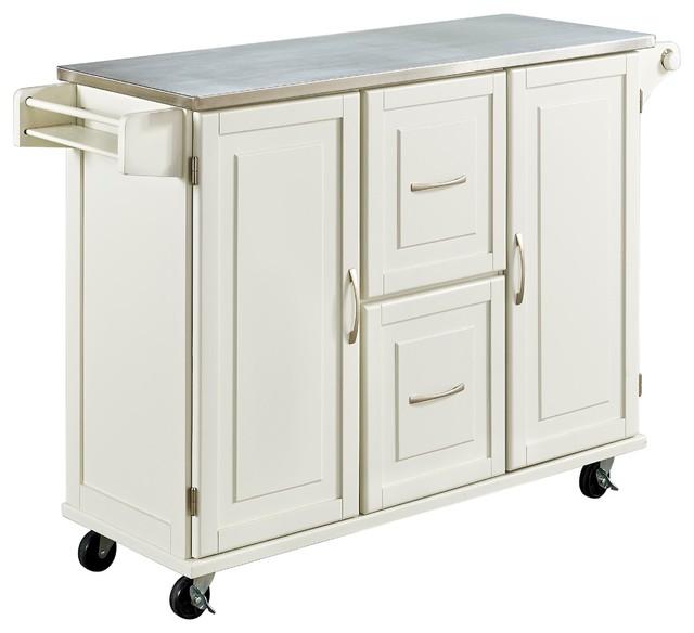 patriot kitchen cart white